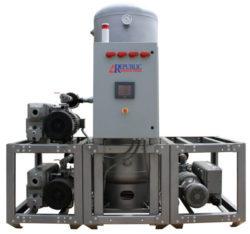 triplex central medical vacuum syste